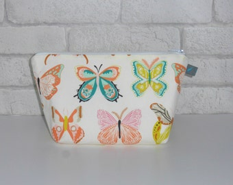 Bright Butterfly Makeup Bag // Wash Bag // Cosmetic Pouch