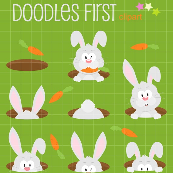 rabbit hole digital clip art for scrapbooking card making