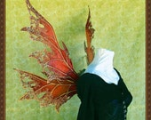 Adult Fairy Wings**Opaque Pumpkin/Rust/Gold**FREE SHIPPING**Costume/Masquerade/Cosplay/Weddings/Renn Faires/Photo shoots