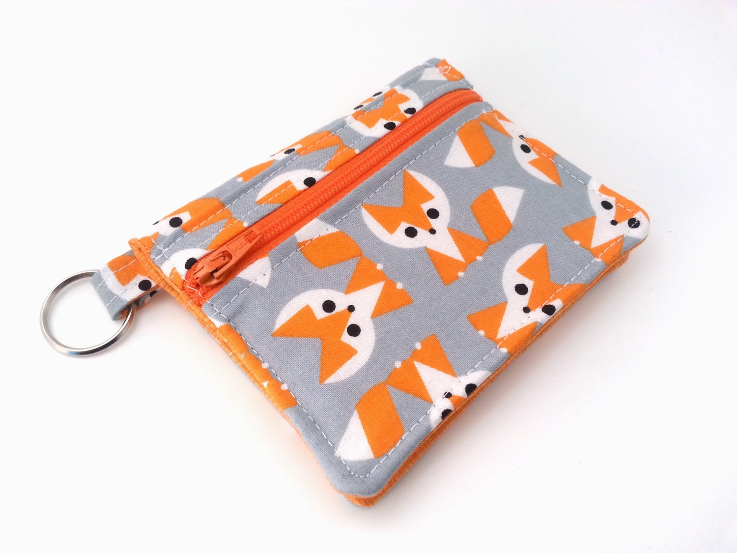 Fox Coin Purse Keychain Wallet Fox Id Pouch Mini Wallet Id