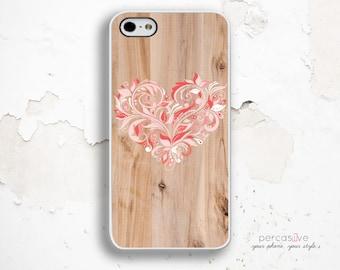 Cute Flower iPhone 6 Case - iPhone 5s Case, iPhone SE Case, iPhone 6 Plus Case Wood Print, iPhone 6S Flower Case Pastel .1212