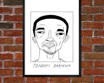 Badly Drawn Tendayi Darikwa - Burnley F.C. Football Poster