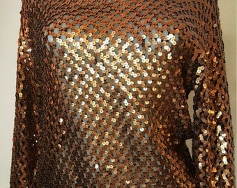 FREE  SHIPPING   Sequin Pullover Blouse