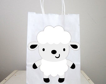 Lamb Goody Bags, Sheep Goody Bags, Sheep Favor Bags, Sheep Gift Bags, Farm Goody Bags, Farm Animal Goody Bags - Farm Birthday Party