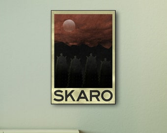 Doctor Who - Skaro Travel Print wall art. Choose either a rolled print or amazing float frame