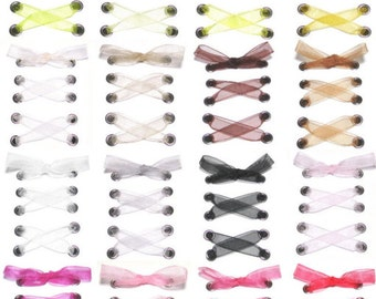 "THE SHOELACES SHOP-3/8"" Organza Ribbon Shoelaces, Sheer Shoe Laces, Wedding Shoelaces, Organza Shoelaces, Custom, ""Sheer Joy (3/8 Inch)"""
