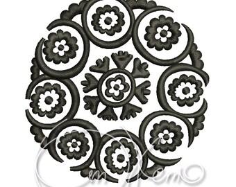 MACHINE EMBROIDERY DESIGN - Suzane, Suzani, Uzbek design, ethnic embroidery, native embroidery design