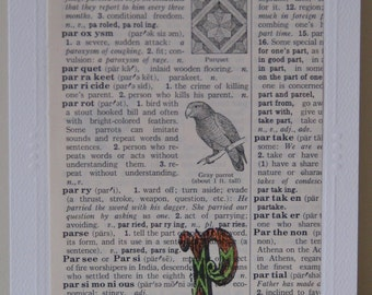 Vintage P Dictionary Page