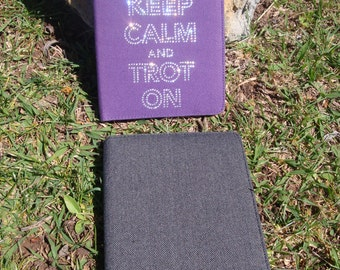 """Crystal Kindle / E-Reader Case Cover for 6"""" Display - Keep Calm and Trot On - Equestrian"""