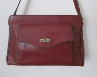 Vintage Etienne Aigner Oxblood Leather Shoulder Purse Single Strap Handbag