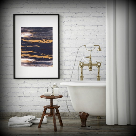 Abstract Art Print 8x10 11x14 16x20 Abstract Bathroom Art