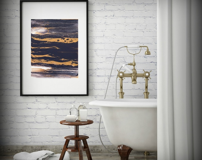 Abstract Art Print, 8x10, 11x14, 16x20, Abstract Bathroom Art Painting Abstract Wall Art, Digital Art Home Decor Art Print, Office Decor Art