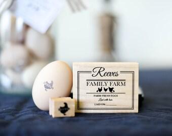 Custom Chicken Stamp & Carton Set