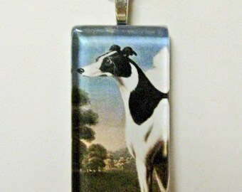 Greyhound pendant and chain - DGP02-088