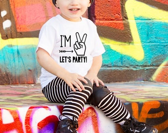 Im Two Lets Party - Birthday Shirts For Boys - Second Birthday- Birthday Shirt 2- 2nd Birthday Shirt- 2nd Birthday Boy - Boy Birthday Shirt