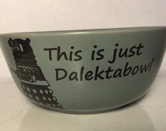 Dr Who dalek Dalektabowl slate, steel blue tapered, matte to satin finish, Stoneware, ceramic kiln fired