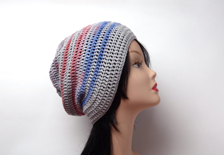 Summer Beanie Hat Crochet Pattern : crochet hat Slouchy beanie Summer Beanie Slouchy by ...