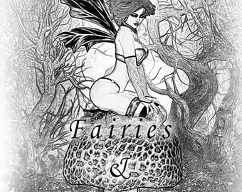 Print Your Own Digital Adult Coloring Book Fairies and Elves