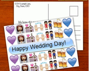 Wedding Emoji Postcard [Digital Download]