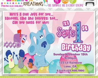 143: DIY - Blues Clues 2 Party Invitation Or Thank You Card