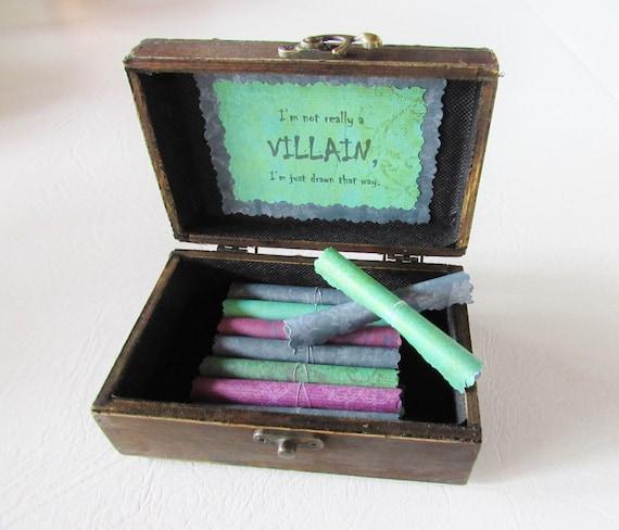 Disney Villain Scroll Box, Disney Gift, Disney Fan, Disney Birthday, Disney Lover, Disney Villain, Disney Villain Quotes, Disney Fan, Disney
