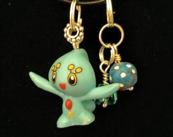 pokemon inspired manaphy charm cell phone necklace bracelet