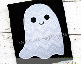 Halloween Simlpe Ghost Digital Machine Embroidery Applique Design 4 Sizes, ghost applique, halloween applique, ghost embroidery, halloween