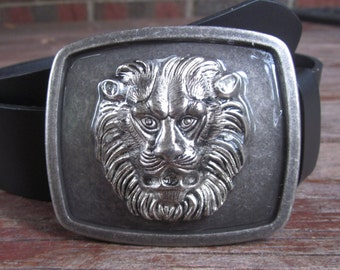 mens belt buckle Lion belt buckle Rustic Bohemian belt buckle  Majestic Lion Head Belt Buckle mens accessories body jewelry
