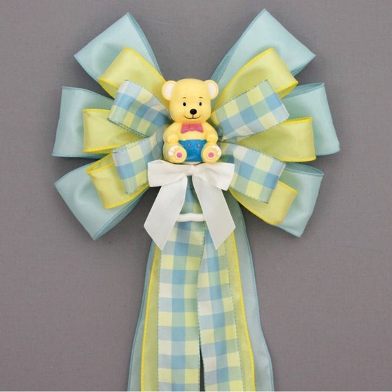 birth announcement bear baby shower bow baby shower decorations