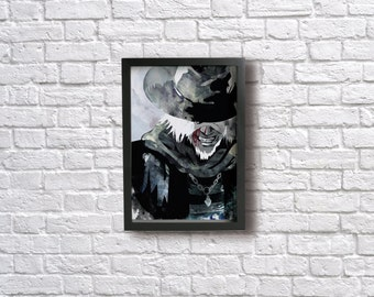 FATHER GASCOIGNE watercolor Poster - Inspired by BLOODBORNE.  Fine art Giclée print.