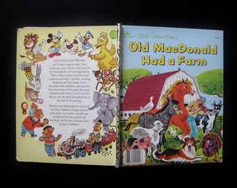 "Vintage 1970s Little Golden Book- ""Old Macdonald Had a Farm"" by Carl and Mary Hauge"