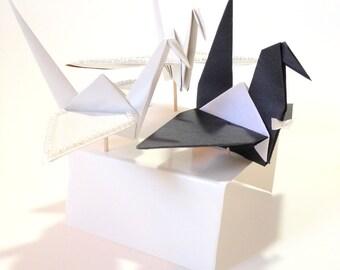Small Bride and Groom, Origami Crane Cake Toppers, Origami Bride & Groom, Wedding Origami Cranes, Origami Wedding, Origami Cranes