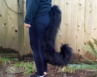 Long Haired Domestic Cat Costume Tail