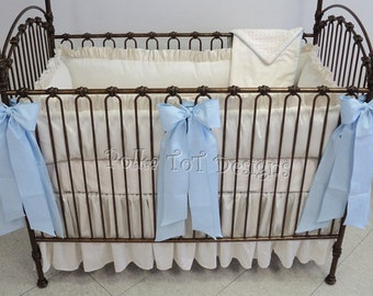 Elegant Baby  Bedding  Choose Accent Color for boy or girl