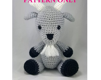 Handmade Billy Goat Crochet Amigurumi PATTERN ONLY. Stuffed Animal / Plush / Stuffie / Plushie / Doll. USA Created.