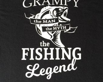 Grampy Shirt - Fishing T-Shirt - Gift for Grandpa - Father's Day Gift - Fisherman Gift - Fishing Legend - Grandfather Gift