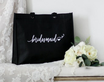 Bridesmaid Tote Bags - Bridesmaid Gift, Maid of Honor Gift, Favor Bags, Gift Bags, Bridal Party Bags