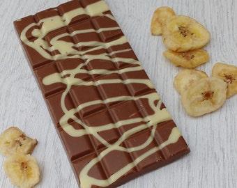 Handmade Belgian Milk chocolate & Banana swirl.