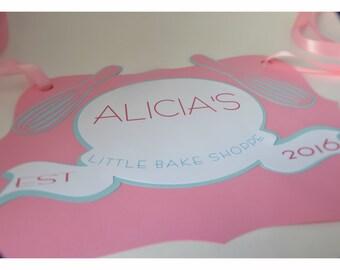 Bake Shoppe Party, Bake Shop Party Sign, Baking Party, Baking Party Decorations, Baking Party props, Cupcake Party, Bake Shoppe Sign