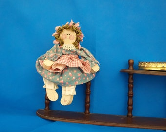 Doll, wooden doll, shelf sitter,
