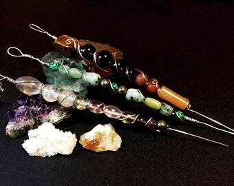 Pipe Cleaner/Poker - Gemstone Smoking Accessories, Glass Pipe, Wood Pipe, Crystal Pipe, Stone Pipe, Tobacco Pipe, Custom Toke Tools, OOAK