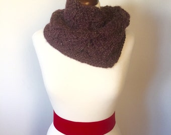 Purple and Gold Scalloped Cowl