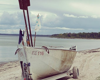 Beach Fine Art Photography, Boat decor, boat print, nautical wall decor, beach decor, beach photography, coastal wall art, coastal decor