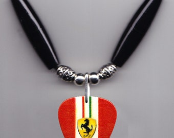 Roxette Per Gessle Acoustic Red Guitar Pick Necklace
