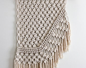 Large Macrame Wall Hanging - Cotton on Copper