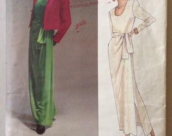 Vintage Vogue Paris Original Pattern 2603 by Yves Saint Laurent: Misses Jacket, Dress and Sash