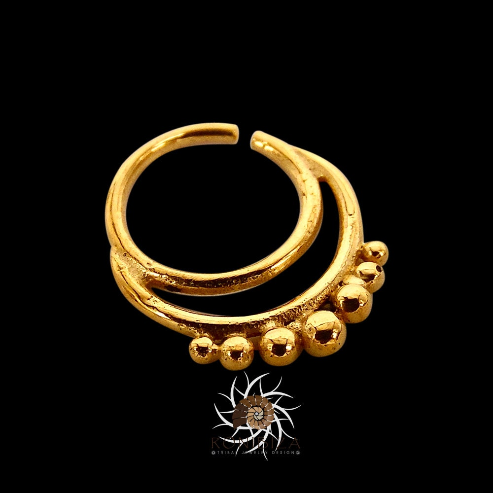 agni gold septum ring 18g septum 16g septum indian