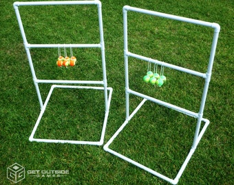 Texas Toss™ - 5 ft Tall Ladder Toss / Ladder Ball Golf Game w Tennis Ball Bolas