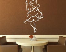 Wall Decal, Ganesha, Ganapati, Vinayaka, Yoga Wall Art, Hindu deity,