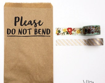 custom business stamp - no. 3 - shipping stamp - please do not bend - business stamp - custom rubber stamp - personalized